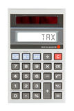Old calculator - taxes Stock Images