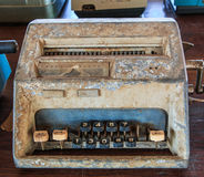 Old calculator. Is used in the pass Royalty Free Stock Photography
