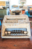 Old calculator. Is used in the pass Stock Images