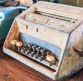 Old calculator. Is used in the pass Stock Photo