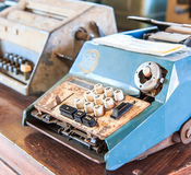 Old calculator. Is used in the pass Royalty Free Stock Images