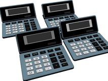 Old calculators Stock Photos