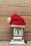 Old calendar and cap of Santa Claus Royalty Free Stock Photo
