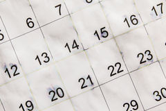 Old calendar paper Stock Images