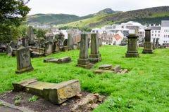 Old Calton Burial Ground Cemetary in Edinburgh. EDINBURGH - AUG. 30, 2017: Old Calton Burial Ground Cemetery near Calton Hill in the Old City of Edinburgh Royalty Free Stock Photo