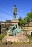 The Old Calton Burial Ground in Edinburgh. The Old Calton Burial Ground is a graveyard at Calton Hill, in Edinburgh, and Lincoln is the only US president to have royalty free stock image