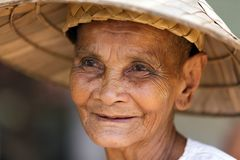 Old Cambodian woman Stock Images