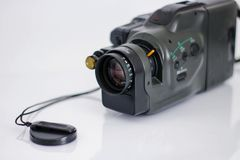 Old Camcorder from 1990 stock images
