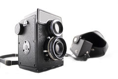 Old camera. Photo of an old camera on a white background Royalty Free Stock Images