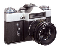 Old camera. Isolated on a white background Stock Photo