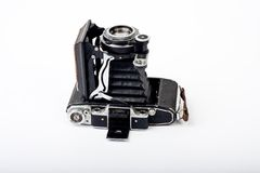 Old camera. Old Russian medium format camera Royalty Free Stock Photography