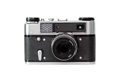 Old camera. Isolated on the white background Stock Images