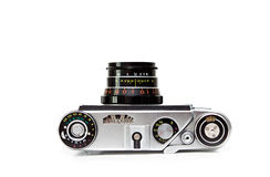 Old camera. Isolated on the white background Royalty Free Stock Images
