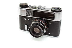 Old camera. Isolated on the white background Stock Photo