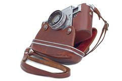 Old camera. Royalty Free Stock Images