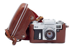 Old camera. Stock Photo