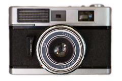Old camera. On a white background royalty free stock image