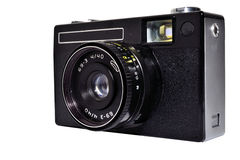 Old camera. Old photo camera isolated on white background Royalty Free Stock Image