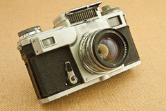Old camera. Model of classical 35 mm camera in the middle of the nineteenth century Stock Images