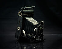 Old camera. Studio shot dark low-key royalty free stock photos