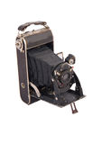 Old Camera. Photo of the old antique camera Royalty Free Stock Photos