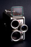 Old camera. With changeable lens royalty free stock image