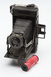 Old camera. Old photo camera over white Royalty Free Stock Image