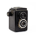 Old camera. A black old camera Royalty Free Stock Images
