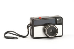 Old camera. Over white background Royalty Free Stock Photos