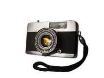 Old camera. Old-fashioned Russian camera Stock Photos