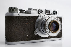 Old camera. With 35 mm format Royalty Free Stock Photography