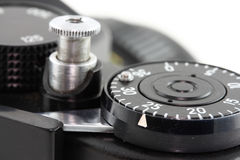 Old camera. Details of an old camera Royalty Free Stock Photos
