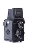 Old camera. Isolated on a white background Royalty Free Stock Photos