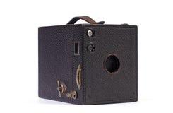Old camera. Classic Brownie box film camera stock photo