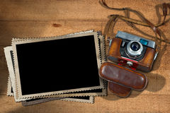 Old Camera and Blank Photo Frames Stock Image