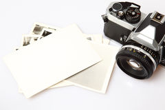 Old Camera & Blank Photopaper Royalty Free Stock Photo
