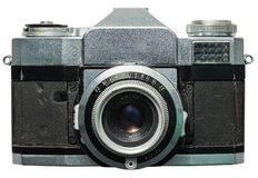 Old camera. With clip-path stock photo