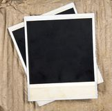 Old Camera Frames. On Cardboard Background Royalty Free Stock Image