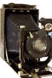 Old camera isolated on white royalty free stock photos