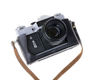 Old camera isolated on a white Stock Image