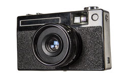 Old camera, isolated on white background,with clipping path Royalty Free Stock Images