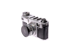 Old camera on isolated white Royalty Free Stock Photos