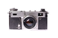 Old camera on isolated white royalty free stock images