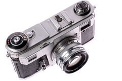 Old camera on isolated white Royalty Free Stock Photo