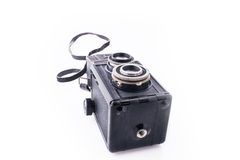 Old camera on its side Royalty Free Stock Photography