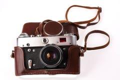 Old camera. Izolirovanye on white background Stock Photo