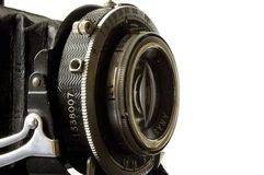 Old camera lens. Vintage camera lens Royalty Free Stock Photo