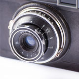 Old camera lens close up Royalty Free Stock Image