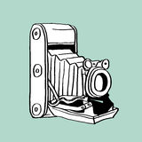 Old Camera. This is line art, Created form my hand drawn Stock Photo