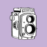 Old Camera. This is line art, Created form my hand drawn royalty free illustration